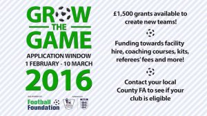 Grow the Game: Football Grants of £1,500