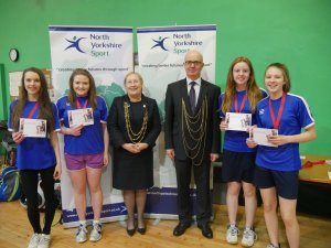 Lord Mayor of York congratulates Yorkshire schools at National Badminton Championships