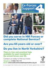 Older veterans in North Yorkshire encouraged to access new support service