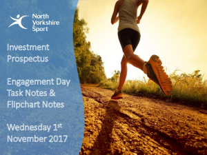NYS Investment Prospectus Partner Engagement Day 1st Nov 2017 Attendees and Workshop Notes
