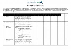 NYS Board Skills Matrix Jan 18