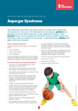 Impairment Factsheet Aspergers Syndrome