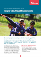Impairment Factsheet Manual Visual Impairments