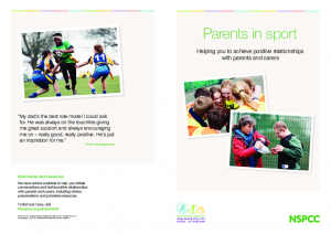 Parents in Sport Helping you to achieve positive relationships with parents and carers