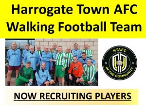 Harrogate Town AFC Community Foundation to launch Walking Football Team