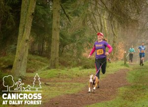 Canicross at Dalby Forest Round 2
