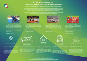 Club Matters inclusivity Infographic
