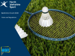 Badminton Rules and Regulations 2020 FINAL