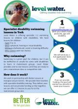Specialist 1:1 swimming lessons for disabled children in York