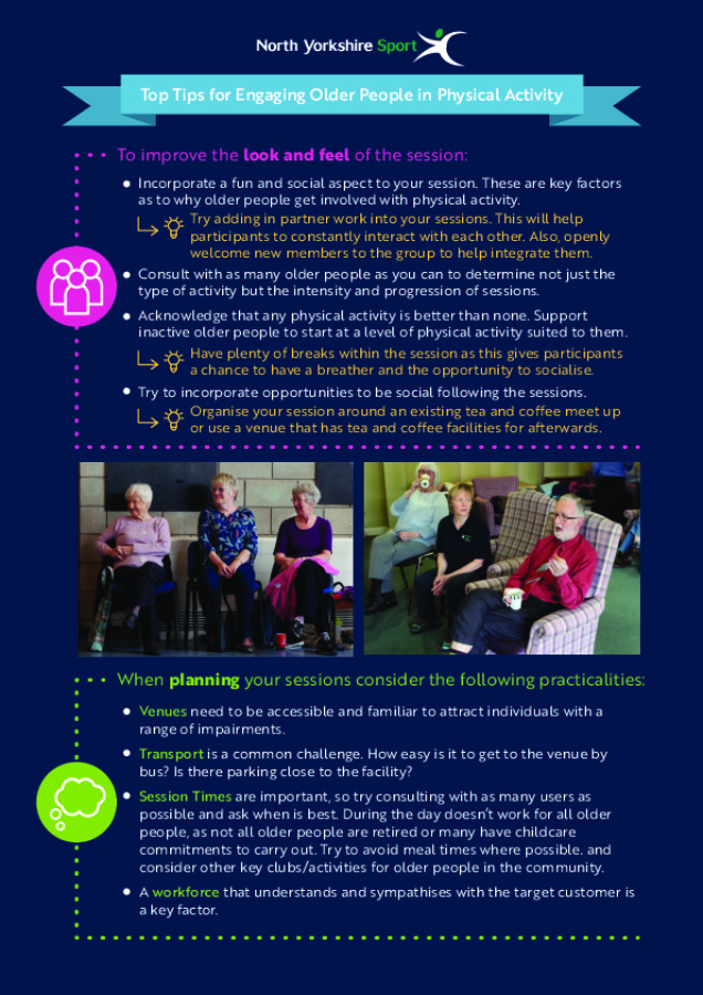 Top Tips for Engaging Older People in Physical Activity