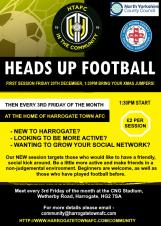 Harrogate Town AFC –  NEW Heads Up Session