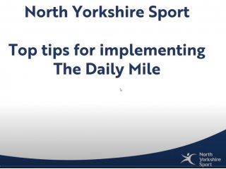 Top tips for implementing the daily mile