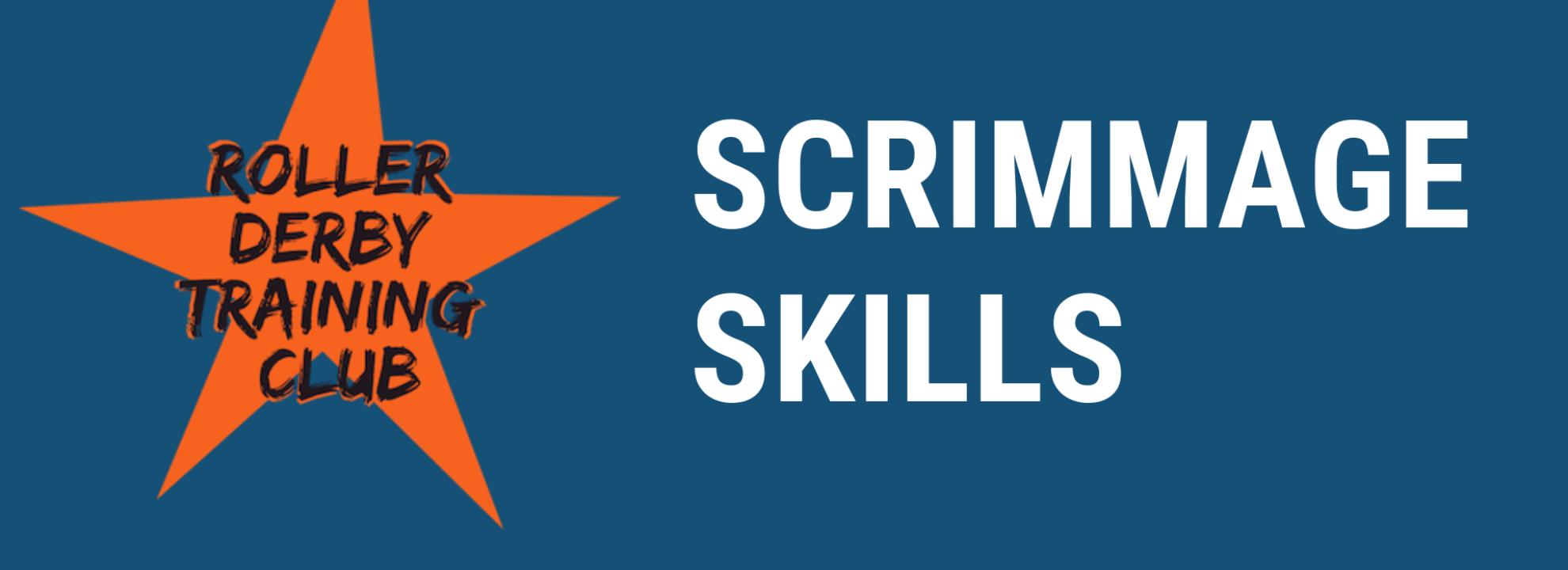 Scrimmage Skills (Roller Derby) Banner