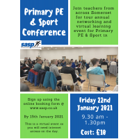 Somerset Primary PE and Sport Virtual Conference - 22nd January 2021